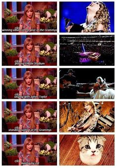 Taylor's favorite moments of her life! :)