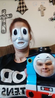 Snap chat face swap - Thomas the train