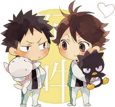 Image result for chibi haikyuu