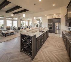 Luxury Kitchen Design In 2020 Ideas , Dream and Modern Kitchen) Living Room Kitchen, Home Decor Kitchen, Home Kitchens, Kitchen Ideas, Diy Kitchen, Kitchen Designs, Kitchen Hacks, Luxury Kitchens, Modern Kitchens
