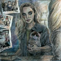 Everybody loves baby Supernatural Drawings, Supernatural Pictures, Supernatural Fan Art, Castiel, Supernatural Claire, Supernatural Fanfiction, Claire Novak, Dean Winchester, Crowley