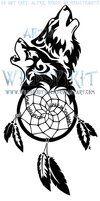 Wolven Dreamcatcher Tattoo