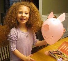"Pig Balloon to go with ""If You Give a Pig a Party"" by Laura Numeroff"
