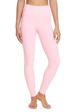 Alo Yoga High Waist Lounge Leggings In Macaron Pink Heather Comfy Sofa, Yoga Fashion, Macarons, Menswear, Pajama Pants, Lounge, Nordstrom, Leggings, Workout