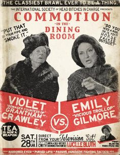 omg yes!!!!! This is Downton Abbey and Gilmore Girls and I love both so very much!!!