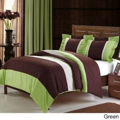 The Marlene 3-piece duvet cover set features an unique patchwork pin tuck design. The color-blocking technique creates a decorative look with simple details. Available in your choice of color, the set includes two shams to complete the look.