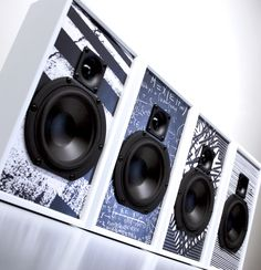 Custom designed speakers for the Wired Store in Times Square, holiday 2011-2012. By Leon Speakers