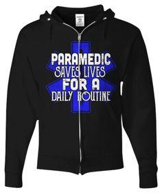 Paramedic Full Zip Hoodie EMT Gifts
