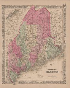 Best Maine Antique Maps Images On Pinterest Antique Maps Maine - Old state maps for sale