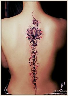 cool #lotus flower tattoo - http://www.freetattooideas.net/lotus-flower-tattoos/