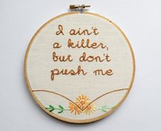 Embroidered Rap Lyrics: Hail Mary by 2Pac  In by nodiggitynodoubt