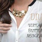 Cómo hacer un collar de botones estilo vintage