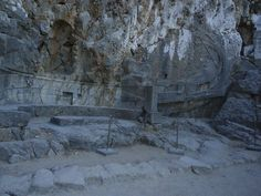 @tzoumio  11h11 hours ago  More   A Rhodian trireme (warship) cut into the rock at the foot of the steps to the Acropolis.Rhodes island,180 BC.Greece