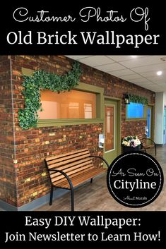 Watch this Old Brick Wallpaper on Cityline with Colin and Justin and then see it on real customer's walls! Faux Brick Wallpaper, Diy Wallpaper, Kids Play Places, Orange Brick, Old Bricks, Easy Diy, Walls, Rooms, Rustic