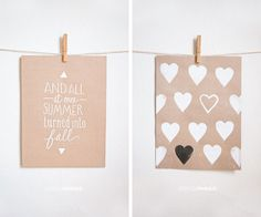 Heart stamp and print #DIY