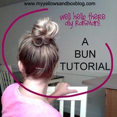Aly Raisman top knot bun tutorial