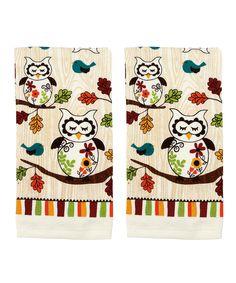 Ritz Sleepy Owl Dish Towels