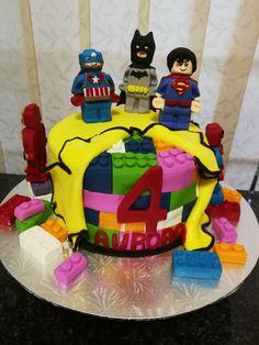Superhero Lego Cake