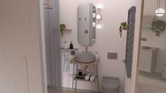 Tiny studio 27 m2 Tiny Studio, Living Room Designs, Living Rooms, Flat Design, Mirror, Bathroom, Furniture, Home Decor, Lounges