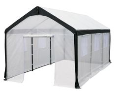 Greenhouse-Spring Gardener Peak Roof Walk In Portable Garden Hot House Fully Enclosed - Screend Windows for Ventilation, Zippered Door (10'W x 20'L x 9'H) Large DIY Hot House for Backyards