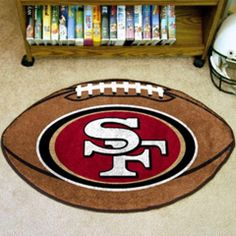 San Francisco 49ers Football Rug - Sports Fans Plus