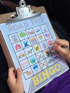 Headed on a road trip with the kids?! Print out these Travel Bingo Cards for Kids...use to play Bingo or find everything on the list for a scavenger hunt.