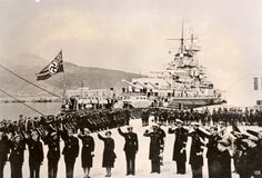 Ceuta, Morocco, The German warship KMS Graf Spee, May 1939.