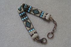 Handloomed Southwestern Sundance Style Beautiful Casual Bracelet. Use Zoom Under Photos to See Detail. Turquoise, Czech Glass Faceted