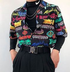 Outfit 5 or Fashion Mode, Aesthetic Fashion, Grunge Fashion, Aesthetic Clothes, Look Fashion, Korean Fashion, Fashion Images, 80s Fashion Men, Queer Fashion