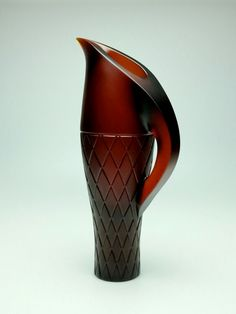 Kupenga (net) vase by Mike Crawford 2015 (cast red Gaffer glass )