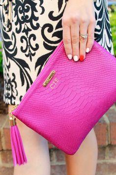 GiGi New York   Magenta All In One clutch   The Dainty Darling Fashion Blog