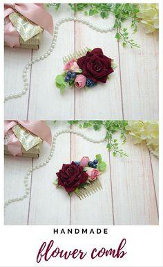 Bridal hair comb Wedding hair comb Bridal hair piece Floral