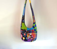 FREE SHIPPING  Patchwork Hobo Bag Crazy Quilt by 2LeftHandz, $25.00