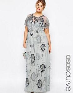ca7a18e4f162d0 ASOS CURVE Hero Embellished Maxi Dress Embellished Dress