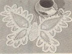 Free Crochet Patterns...beautiful butterfly doily.. Thanks for sharing!