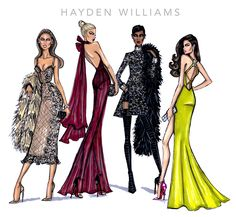 Hayden Williams Fashion Illustrations: Hayden Williams 2014