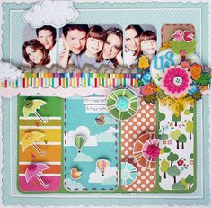 take a pic of your child on each season as a recap page, decorate each bar as one season