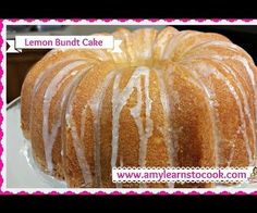 Join Amy as she makes a Lemon Bundt Cake. This cake is lemon heaven! It is made in an original Bundt pan and is very easy to cook! You will love this cake!! Enjoy!...