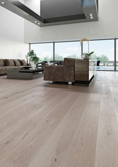 Barlinek Sense Oak Touch is an extra wide plank engineered floor with a grey brushed matt lacquer finish. These subtle tones will leave you with the perfect canvas to create a more detailed interior to accompany your new floor. Living Room Wood Floor, Engineered Wood Floors, Wide Plank, Flooring, Interior Design, Home Decor, Room Ideas, Future, Google
