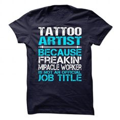 Awesome Shirt For Tattoo Artist