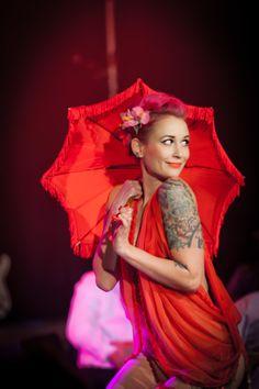 Oriental, tattoo, lingerie by Miss Jones, photo by Adam Streams