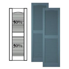 Our custom vinyl shutters will make the perfect exterior accent for your home. We carry a full line of custom louver shutters made from a premium vinyl material that is custom designed for exterior window applications. Exterior Vinyl Shutters, Louvered Shutters, Custom Shutters, Wood Shutters, Window Shutters, Exterior Solutions, Decorative Hinges, Shutter Colors, Mid Century Ranch