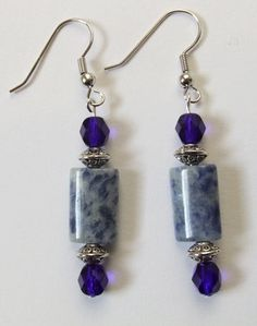 Sodalite Gemstone and Cobalt Blue Crystal by ShannonsWhimsies, $10.00