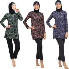 Argisa 7540 Long Sleeve Chain Patterned Full Hijab Swimwear 36-52 Plus Size Muslim Hijab Islamic Swimsuit Burkini Turkey Cover  Save this photo on your board if you ❤️ it. Muslim Hijab, Swimsuits, Swimwear, Islamic, Turkey, Plus Size, Free Shipping, Chain, Boys