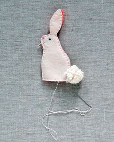 Molly's Sketchbook: Bunny Finger Puppets! - The Purl Bee - Knitting Crochet Sewing Embroidery Crafts Patterns and Ideas!