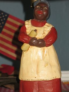 Antique Collectible Original Black Americana Lamp..... old!    by SimpleTinyTreasures on Etsy, $80.00