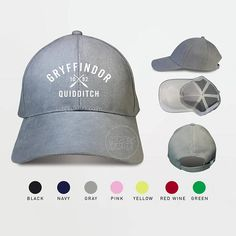 Gryffindor Quidditch 1092 Baseball Caps Harry Potter Gryffindor Caps ★ Item Detail: • Use Flock Flex really high quality • 100% cotton • Adjustable strap for a perfect fit Orders Shipped within 1-3 business days All items will be shipped with registered air mail from THAILAND ★