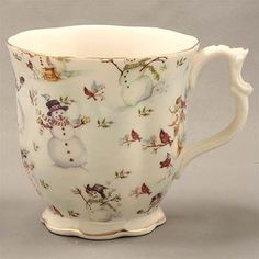 Love this for winter ... The Twiggery - Tea Party - snowman mugs, snowman coffee mugs, snowman hot chocolate mugs