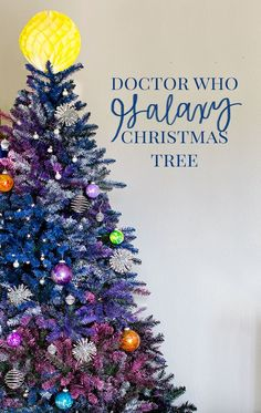 DIY Galaxy Christmas Tree Tutorial - Craft a Doctor Who holiday tree, complete with planet and space ornaments. They make a great gift idea, too! (Dr Who)