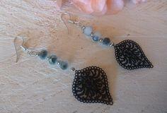 Σκουλαρίκια με κρύσταλλα και φιλιγκρί Earrings Handmade